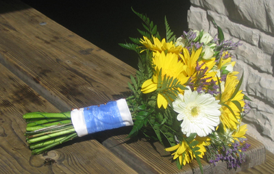 Bridesmaid Bouquet with Gerbera daisies